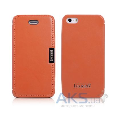 Чехол iCarer Luxury Side-open Apple iPhone 5, iPhone 5S, iPhone SE Orange