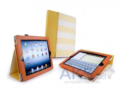 "Чехол для планшета Tuff-Luv Type-View ""Candy Rock"" case for iPad 2,3,4 Orange (E1_27)"