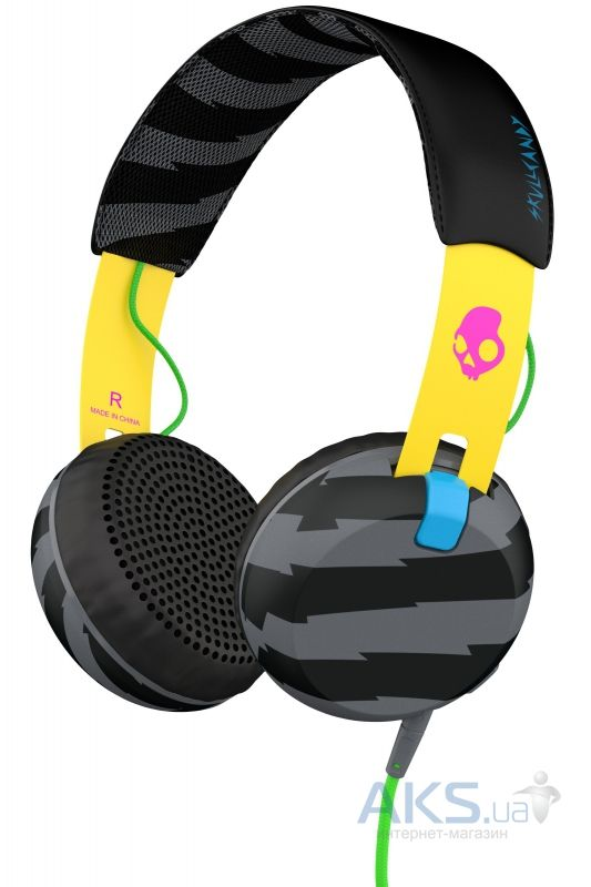 Наушники (гарнитура) Skullcandy Grind Locals Only/Yellow/Black (S5GRHT-466)
