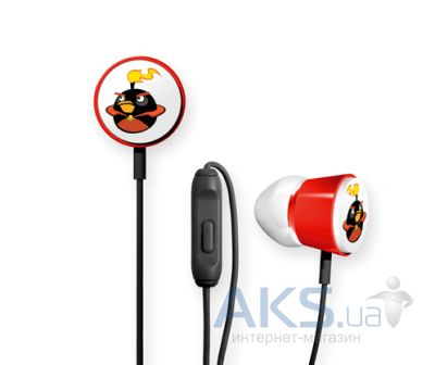 Наушники (гарнитура) Gear4 Angry Birds Stereo HeadphonesTweeters Deluxe Space Black Bomber for iPad/iPhone/iPod