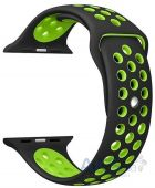 Ремешок Nike Sport Band для Apple Watch 38mm Black/Green (S-M size)