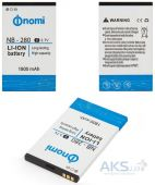 Аккумулятор Nomi i280 / NB-280 (1800 mAh) Original