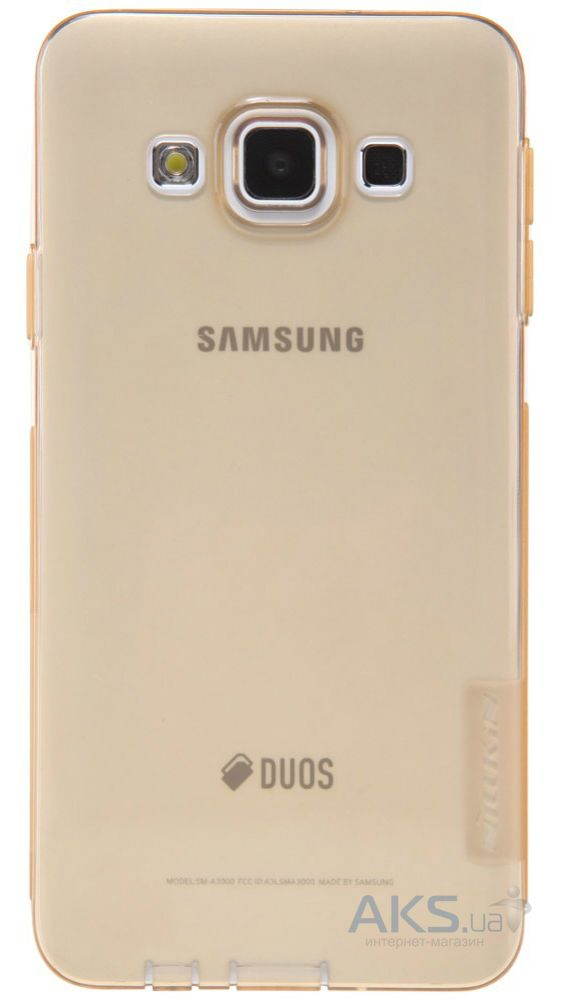 Чехол Nillkin Nature Series Samsung A300 Galaxy A3 Transparent Gold