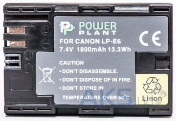 Аккумулятор Canon LP-E6 Chip 1800mAh (DV00DV1243) PowerPlant