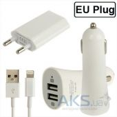 Зарядное Apple Universal Dual Car + Home Charger IG-521 (2A/1A) для iPhone