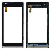 Сенсор (тачскрін) Sony Xperia SP C5302 M35h, C5303 M35i, C5306 with frame (copy) Black