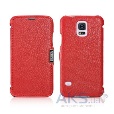 Чехол iCarer Side-open Litchi Samsung G900 Galaxy S5 Red