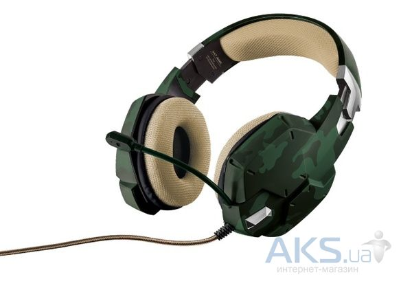 Наушники (гарнитура) Trust IT TRUST GXT 322C Gaming Headset green camouflage