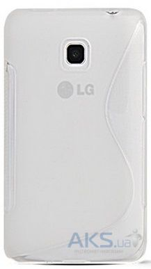 Чехол Original TPU Duotone LG E435 Optimus L3 ll Dual Transparent