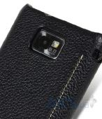 Вид 6 - Чехол Melkco Face Cover Jacka leather case for Samsung I9100/I9105 Galaxy S II Black (SS9100LCFB2BKLC)