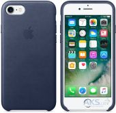 Чехол Apple Leather Case Apple iPhone 7 Midnight Blue (MMY32)