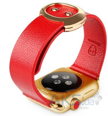 Baseus iWatch Genuine Leather Strap Malibu Series for Apple Watch 38mm Red