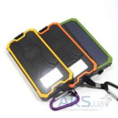 Внешний аккумулятор MANGO Solar IPx6 6 LED Power Bank 12000mAh Black