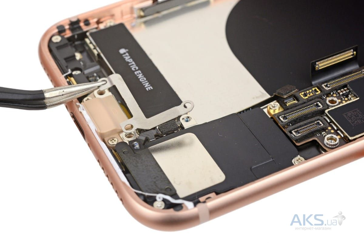 замена нижнего шлейфа iphone 8