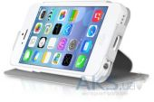 Вид 4 - Чехол ITSkins Plume Artificial for iPhone 5C White/Black (APNP-PLUME-WHBK)