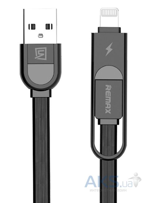 Кабель USB REMAX Elegant 2in1 Black (RC-033t)