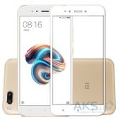 Защитное стекло 1TOUCH 5D Full Cover Xiaomi Mi5x, Mi A1 White