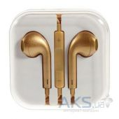 Гарнитура для телефона Apple EarPods with Remote and Mic (MD827) High Copy Gold