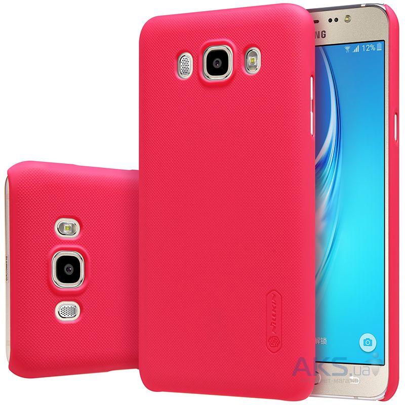 Чехол Nillkin Super Frosted Shield Samsung J710 Galaxy J7 2016 Red