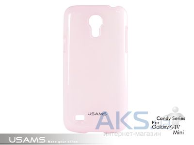 Чехол Usams Book Case-Candy for Samsung i9190 Galaxy S4 Mini Pink
