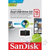 Вид 6 - Флешка SanDisk 16GB Ultra Dual OTG for Android Black USB 3.0 (SDDD2-016G-G46)
