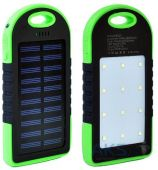 Внешний аккумулятор power bank MANGO Solar + LED 2USB 6000mAh Black/Green