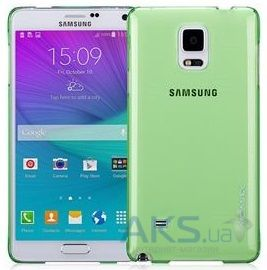 Чехол Momax Ultratough case for Samsung Galaxy Note 4 Green (CUSANOTE4G)