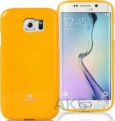 Чехол Mercury Jelly Color Series Samsung G925F Galaxy S6 Edge Yellow