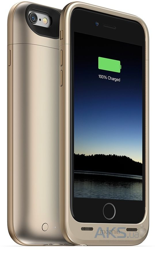 Внешний аккумулятор Mophie Juice Pack Air Case 2750 mAh for iPhone 6/6S Gold (3045-JPA-IP6-GLD)