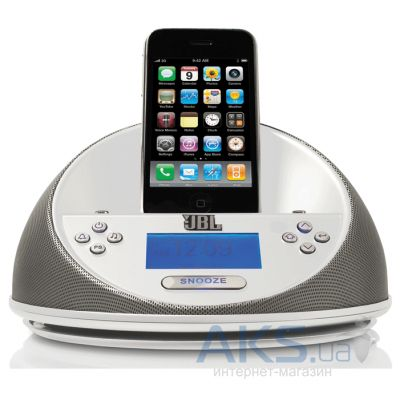 Колонки акустические JBL On Time Micro for iPhone/iPod White (JBLOT-MICROWHT)