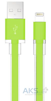 Кабель USB Black Rock Air Cable Lightning Green (7001AIR14)