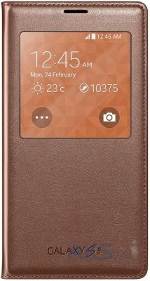 Чехол Samsung S View Cover G900 Galaxy S5 Brown (EF-CG900BFEGWW)
