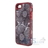 Чехол Speck FabShell Apple iPhone 5, iPhone 5S, iPhone 5SE FreshBloom Coral Pink/Black (SPK-A1596)