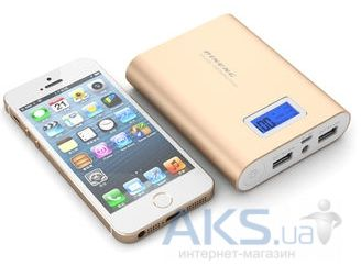 Внешний аккумулятор power bank PINENG Power Bank [PN-988G],10000 mAh with LCD Gold