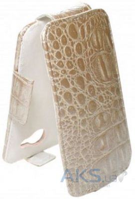 Чехол Sirius flip case Alcatel One Touch 8020d Hero Beige Croco