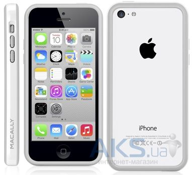 Чехол Macally Frame for iPhone 5C White (RIMP6-W)