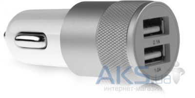 Зарядное устройство Nokoko Double USB Car Charger 2.1A Silver