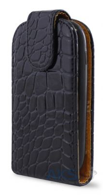 Чехол Flip Cover for Samsung S5690 Black Croco