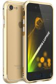 Чехол Luphie Bicolourable Blade Sword Bumper Apple iPhone 7 Gold-Silver