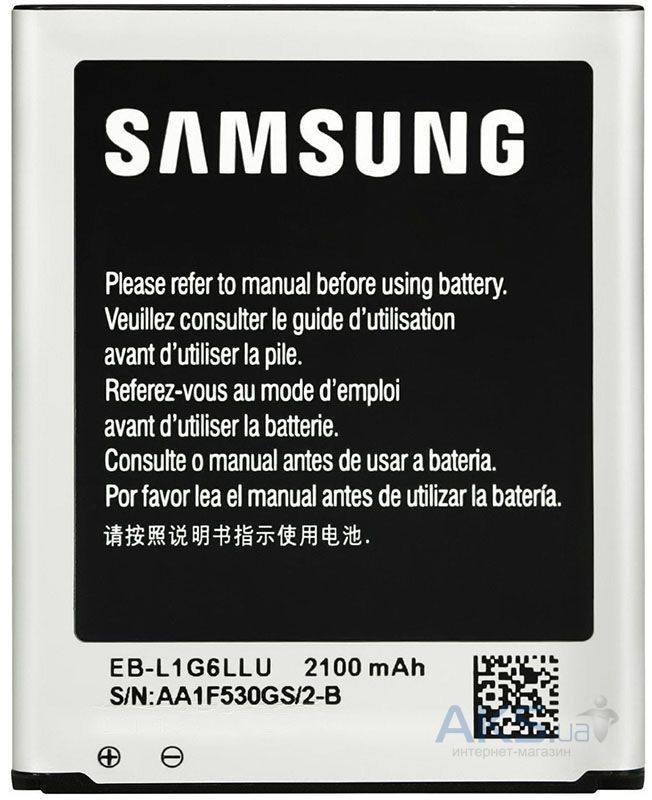 Аккумулятор Samsung i9300 Galaxy S3 / EB-L1G6LLU (2100 mAh) 12 мес. гарантии