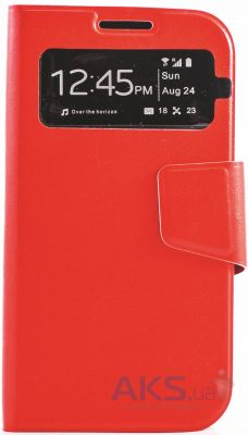 Чехол Book Cover TPU Samsung i9500 Galaxy S4 Red