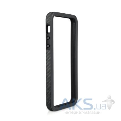 Чехол Macally Carbon Fiber Style Texture Frame for iPhone 5 Blue (RIMPLUSCF-P5)