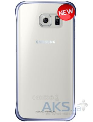 Чехол Samsung Clear Cover G925 Galaxy S6 Edge Blue Black (EF-QG925BBEGRU)