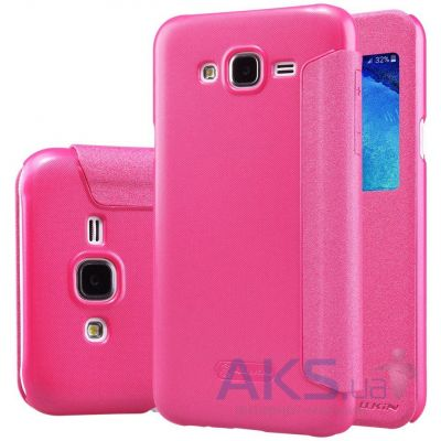 Чехол Nillkin Sparkle Leather Series Samsung J500 Galaxy J5 Pink