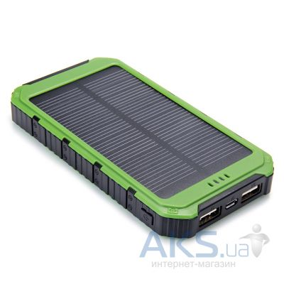 Внешний аккумулятор power bank MANGO DS18000 IPX6 waterproof solar, 6000mAh Black/Green