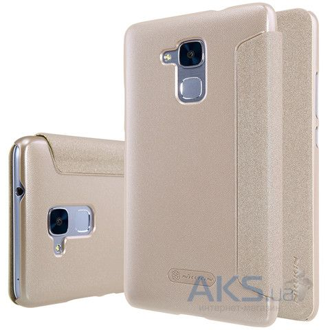 Чехол Nillkin Sparkle Leather Series Huawei Honor 5C Gold