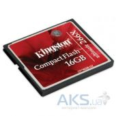 Карта памяти Kingston Compact Flash Card 16GB 266x (CF/16GB-U2)