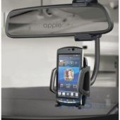 Вид 2 - Держатель Capdase Car Mount Holder Racer Rearview Mirror Black for iPhone/iPod/Smartphone (HR00-CC01)