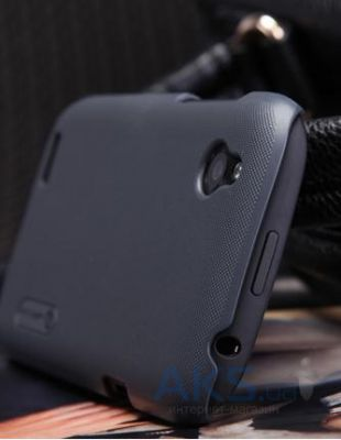 Вид 3 - Чехол Nillkin Super Frosted Shield case for HTC Desire V/Desire X Black