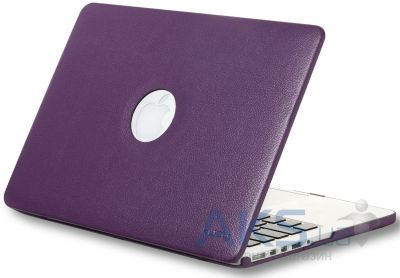 Чехол Kuzy Leather Case for MacBook Pro 15(with Retina display) Purple